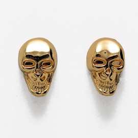 Metal Skull Button with Shank by pc, TR-11157
