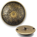 Ornate Metal Button with Shank, BEA-21130