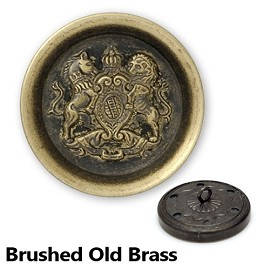 Metal Blazer Lion Crest Button with Shank, BEA-20976