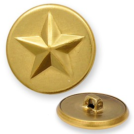 Star Metal Button with Shank, BT-1320