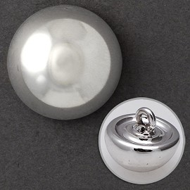 Hemispherical Metal Button with Shank, FF-2413