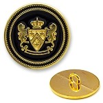 Metal Lion Crest Blazer Button with Shank, SAN-2432Z