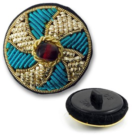 Passementerie Bullion Button with Shank by PC, BN-014505