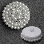 Round Pearl Button with Shank, FF-4014B