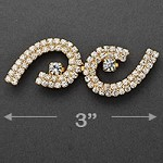 Rhinestone Hook & Eye Closure with Shank by pc, T-1796