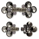 Rhinestone Hook & Eye Closure with two shanks by 1 Closure, FF-FA144