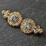 Rhinestone Closure with Shanks, T-1183