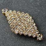 Rhinestone Closure with Shanks, T-1517