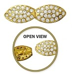 Rhinestone Hook & Eye Closure by pc, T-1554