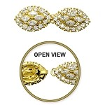 Rhinestone Hook & Eye Closure by pc, T-1590