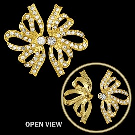 Rhinestone Hook & Eye Closure by pc, T-1744