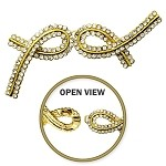 Rhinestone Hook & Eye Closure by pc, T-1815