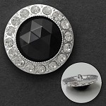 Round Rhinestone Button with Shank, FF-7067/69/70