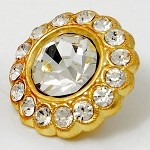 Crystal Rhinestone Button by PC, ROI-RB533