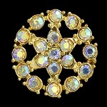 25mm Rhinestone Button, T-1023