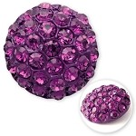 28mm Rhinestone Dome Button with Shank, T-1794