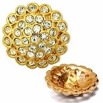 28mm Rhinestone Button with Shank, T-1628