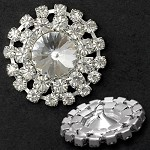 Rhinestone Button with Shank, T1904/05