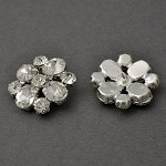 28mm Rhinestone Button with Shank Back, TR-11035