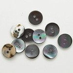 Abalon Round Shell Button by 6pcs, TR-11175