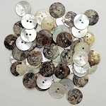 Natural Agoya Shell Round Buttons by 0.5 lbs, TR-11179