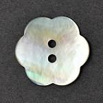 Flower Natural Shell Button, TR-11176