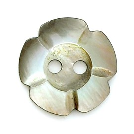 12mm Flower shaped Shell Button by PC, MOP-174