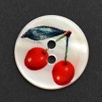 Cherry Shell Button, SAN-26611