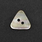 2-Hole Triangle Natural Shell Button by pc, TR-11178