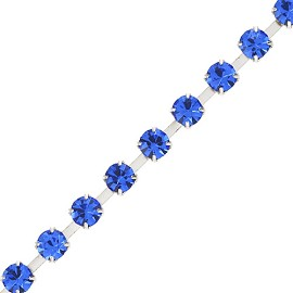 2mm (SS6) Rhinestone Chain Trims by yard