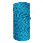 3mm Macrame Cord Colored Cotton Macrame 4-Strand Rope Cord for Wall Hanging Plant Hanger DIY Craft Projects, EJ-2006C