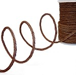 4mm Braided Leather Cord by YD, Braided Cord