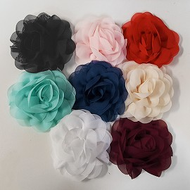 "3-1/2"" Chiffon Flower for Headband, Dress and crafts by PC, MAK-CNFL3"