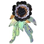 Sequin Bead Flower Pin by pc, FF-VM01-004