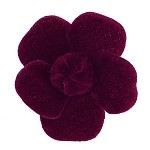 Velvet Flower Applique by pc, MAK-VT9