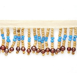 "1-5/8"" Wood Bead Fringe by YD, RL-1845 FF-W/729"