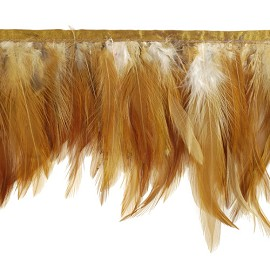 "5-1/2"" Rust Feather Fringe by Yard, RL-FF2/35"