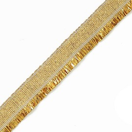 "5/8"" Vintage Metallic Fringe by yard, YD-FG-49M"