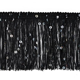 "3"" Starlight Hologram Sequin Chainette Fringe by YD, EXP-IR6675"