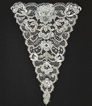 Pearl Beaded Sequin Applique, Bridal Applique by PC, ROI-44592
