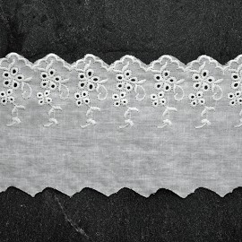 "4"" Cotton Eyelet Lace Trim by Yard, SP-2293"