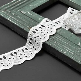 "1-3/4"" Cotton Eyelet Lace Trim by Yard, TR-10833"
