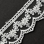 Embroidered tulle lace Trim by yard, TR-11192