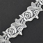 Flower Embroidered Lace Trim by yard, TR-11423A