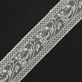 "2"" Vintage Embroidery Lace Trim by 1 Yard, Off White, TR-11555"