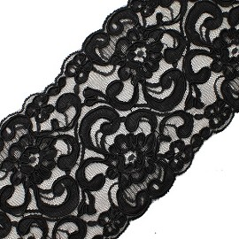 BLACK Embroidery Lace by YD, BADE-2060