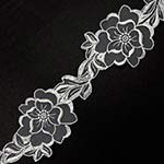 Floral Embroidery Lace Trim by Yard, ROI-1929