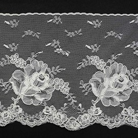 Floral Embroidery Lace Trim by Yard, ROI-4403