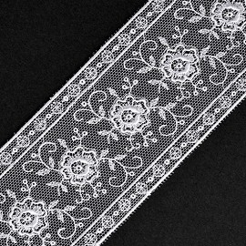 "2"" Floral Embroidered Lace Trim by Yard, STEP-4109"