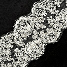 "3-5/8"" Embroidery Lace by YD, TR-10697"